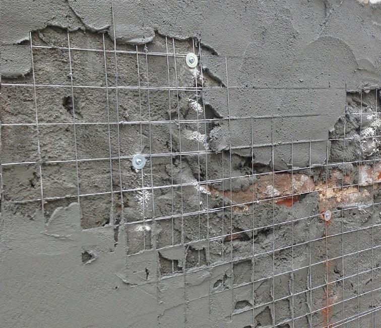 штукатурка стен с использованием сетки